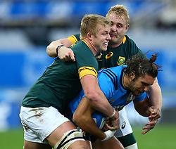 November 19, 2016 - Rome, Italy - Giovanbattista Venditti (I) tackled by Pieter-Steph du Toit (S)  during the international match between Italy v South Africa at Stadio Olimpico on November 19, 2016 in Rome, Italy. (Credit Image: © Matteo Ciambelli/NurPhoto via ZUMA Press)