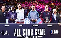 Billy Yakuba OUATTARA - concours de dunks / Adrian MOERMAN - MVP / Leo WESTERMANN - concours de meneurs / Hugo INVERNIZZI - concours de tirs a 3 point  - 03.01.2015 - All Star Game -Paris - Zenith<br /> Photo : Dave Winter / Icon Sport