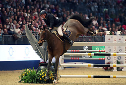 Britain's John Whitaker riding Leen O.L wins the Shelly Ashman International Shipping LTD, E M rogers (transport) LTD Father Christmas stakes during day five of the London International Horse Show at London Olympia. PRESS ASSOCIATION Photo. Picture date: Saturday December 16, 2017. See PA story EQUESTRIAN Olympia. Photo credit should read: Steve Parsons/PA Wire