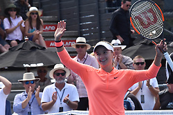 January 7, 2017 - Auckland, Auckland, New Zealand - Lauren Davis of USA celebrating wining a point after wining her single final match against Ana Konjuh of Croatia at the WTA ASB Classic tennis tournament in Auckland, New Zealand on Jan 7. She claims the champion title after a 6-3 6-1 victory over Ana Konjuh. (Credit Image: © Shirley Kwok/Pacific Press via ZUMA Wire)