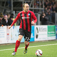 Forfar Athletic v St Johnstone....08.02.14   Scottish Cup 5th Round<br /> Lee Croft<br /> Picture by Graeme Hart.<br /> Copyright Perthshire Picture Agency<br /> Tel: 01738 623350  Mobile: 07990 594431