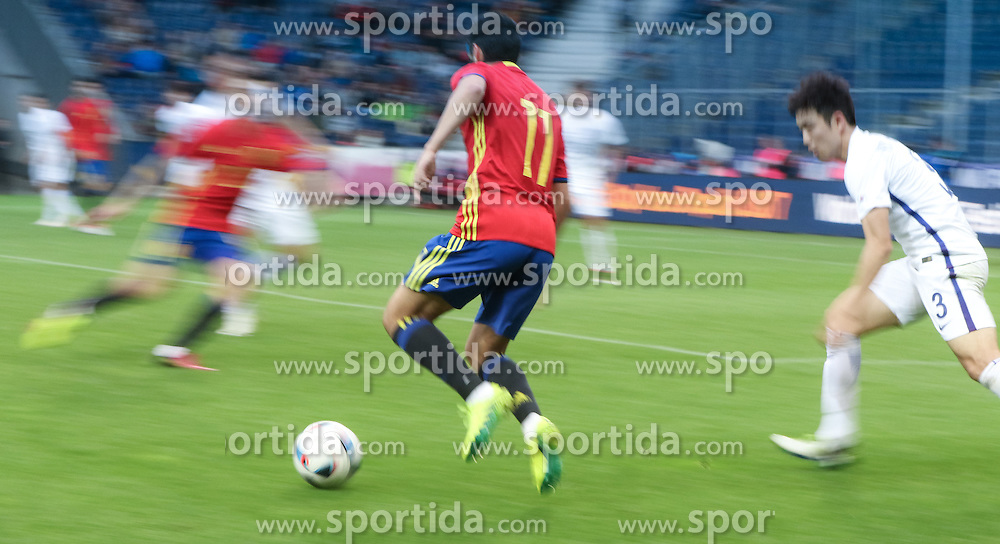 01.06.2016, Red Bull Arena, Salzburg, AUT, Testspiel, Spanien vs Suedkorea, im Bild Pedro Rodriguez (ESP) // Pedro Rodriguez of Spain during the International Friendly Match between Spain and South Korea at the Red Bull Arena in Salzburg, Austria on 2016/06/01. EXPA Pictures © 2016, PhotoCredit: EXPA/ Martin Huber