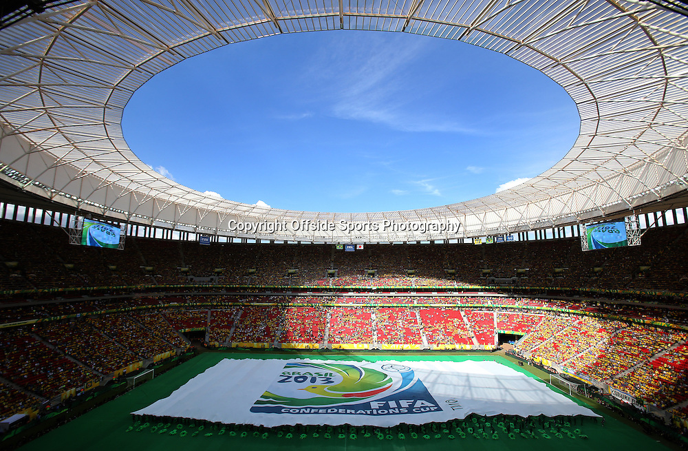 15th June 2013 - FIFA Confederations Cup 2013 - Brazil v Japan - A general view (GV) during the Opening Ceremony inside the Estadio Nacional Mane Garrincha, the national stadium in Brasilia - Photo: Simon Stacpoole / Offside.