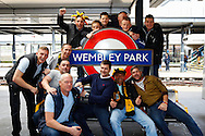 West Auckland fans at Wembley Park Stadium before the FA Vase match at Wembley Stadium, London<br /> Picture by David Horn/Focus Images Ltd +44 7545 970036<br /> 10/05/2014