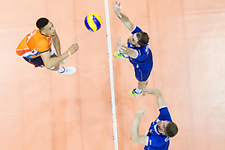 Matija Jereb of Slovenia during volleyball match between national teams of Slovenia and Netherlands of 2018 CEV volleyball Godlen European League, on June 6, 2018 in Arena Bonifika, Koper, Slovenia. Photo by Urban Urbanc / Sportida