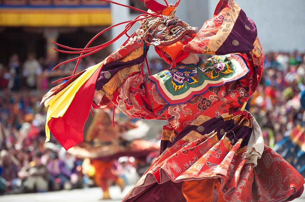 Asia, Bhutan, Cham, Thimpu, Tibet, Tsechu, monk, dancing, cham