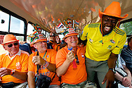 Dutch supporters at the world cup soccer in South Africa