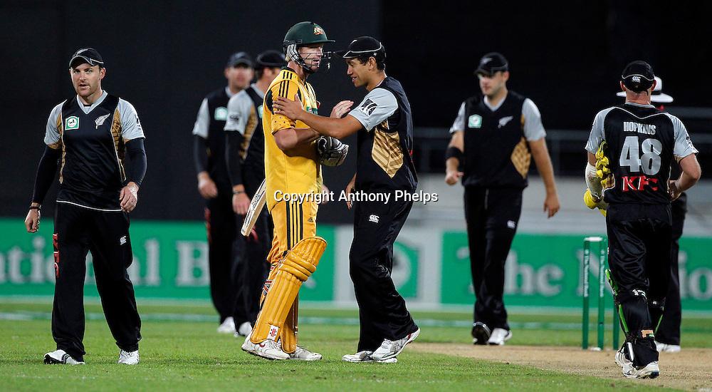 New Zealand v Australia Twenty20 cricket match. Westpac Stadium, Wellington. Friday 26 February 2010. Photo: Anthony Phelps/PHOTOSPORT