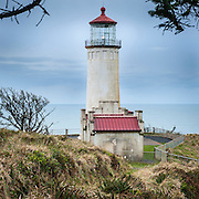 North Head lighthouse, Cape Disappointment State Park, Long Beach, Washington, USA.