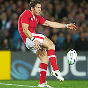 James Hook, Wales, kicks during the Wales V France Semi Final match at the IRB Rugby World Cup tournament, Eden Park, Auckland, New Zealand, 15th October 2011. Photo Tim Clayton...