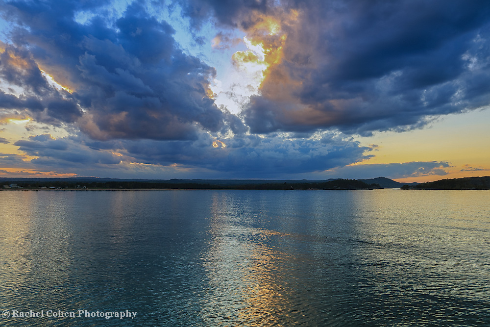 &quot;Dream Weavers Blues&quot;<br /> <br /> For those of you who love a sunset in shades of blue and gold, here's a beautiful one on Lake superior!