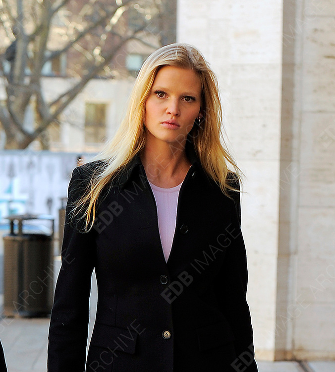 13.FEBRUARY.2012 NEW YORK<br /> <br /> LARA STONE ARRIVING AT THE LINCOLN CENTER IN NEW YORK FOR A PHOTOCALL AS PART OF 2012 FALL NEW YORK FASHION WEEK.<br /> <br /> BYLINE: EDBIMAGEARCHIVE.COM<br /> <br /> *THIS IMAGE IS STRICTLY FOR UK NEWSPAPERS AND MAGAZINES ONLY*<br /> *FOR WORLD WIDE SALES AND WEB USE PLEASE CONTACT EDBIMAGEARCHIVE - 0208 954 5968*