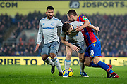 Crystal Palace #18 James McArthur, Everton (43)Jonjoe Kenny, Everton (12)Aaron Lennon  during the Premier League match between Crystal Palace and Everton at Selhurst Park, London, England on 18 November 2017. Photo by Sebastian Frej.