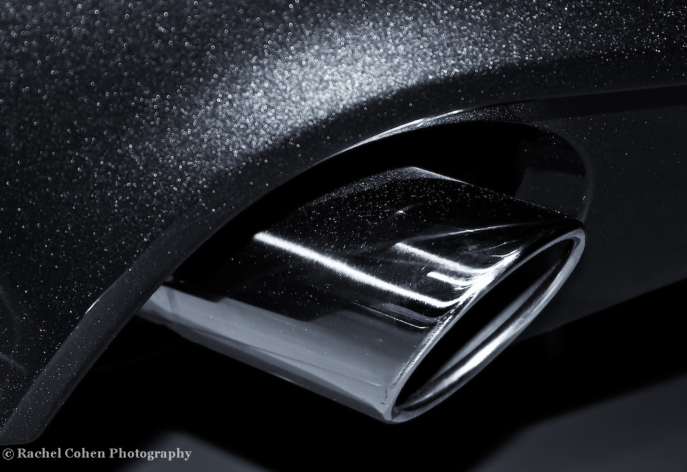 &quot;Ford Mustang&quot; mono<br /> <br /> A beautifully captured monochrome image of the exhaust tip of a 2013 Ford Mustang!!<br /> <br /> Cars and their Details by Rachel Cohen