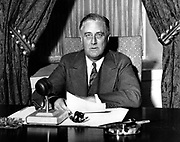 Franklin Delano Roosevelt also known by his initials, FDR, was the 32nd President of the United States (1933–1945)The fireside chats were a series of thirty evening radio addresses given by United States President Franklin D. Roosevelt between 1933 and 1944