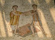 Israel, Lower Galilee, Zippori National Park The city of Zippori (Sepphoris) A Roman Byzantine period city with an abundance of mosaics The Nile House Nile Mosaic (detail)