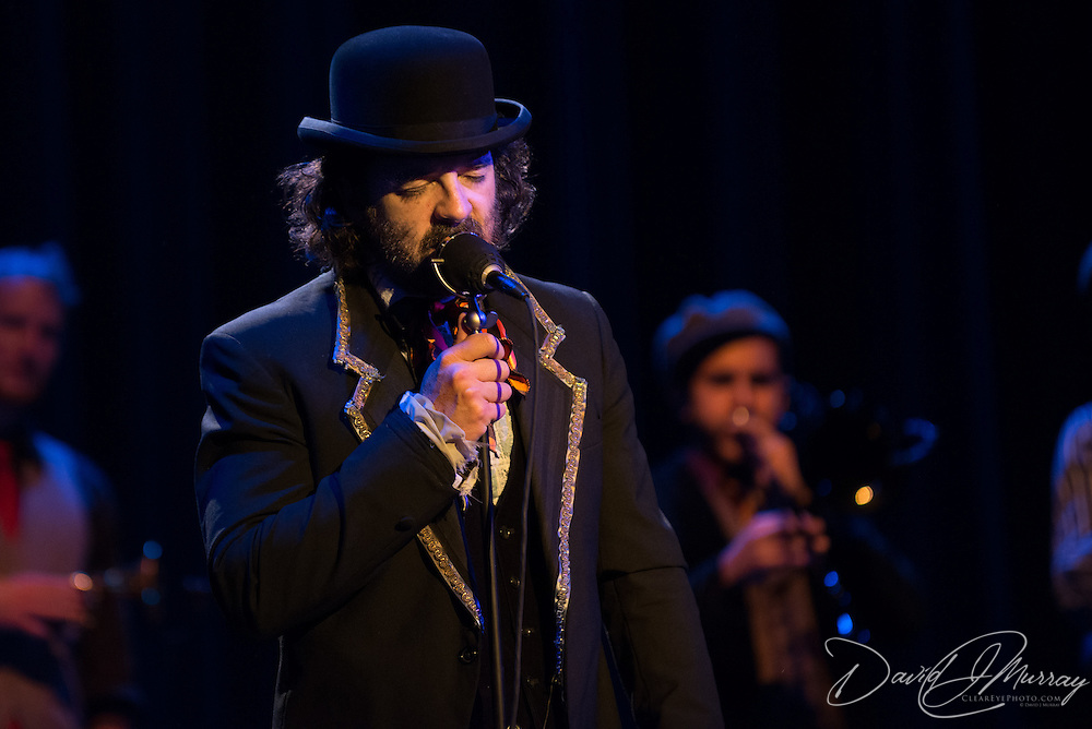 "Group leader John Andrea Comeau aka ""Vaud Overstreet"" performing with Vaud and the Villains at The Music Hall in Portsmouth, NH. July 2012."
