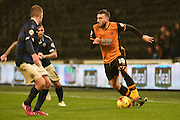 Hull City midfielder Robert Snodgrass looks to cross ball during the Sky Bet Championship match between Hull City and Bolton Wanderers at the KC Stadium, Kingston upon Hull, England on 12 December 2015. Photo by Ian Lyall.