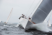 Heroina sailing in the Museum of Yachting Classic Yacht Regatta.