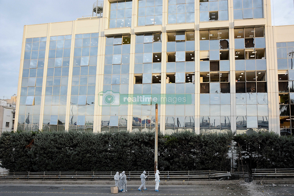 December 17, 2018 - Athens, Greece - Greek forensic experts seen investigating the scene after a bomb exploded outside the Skai television station in Faliro, Athens. (Credit Image: © Giorgos Zachos/SOPA Images via ZUMA Wire)