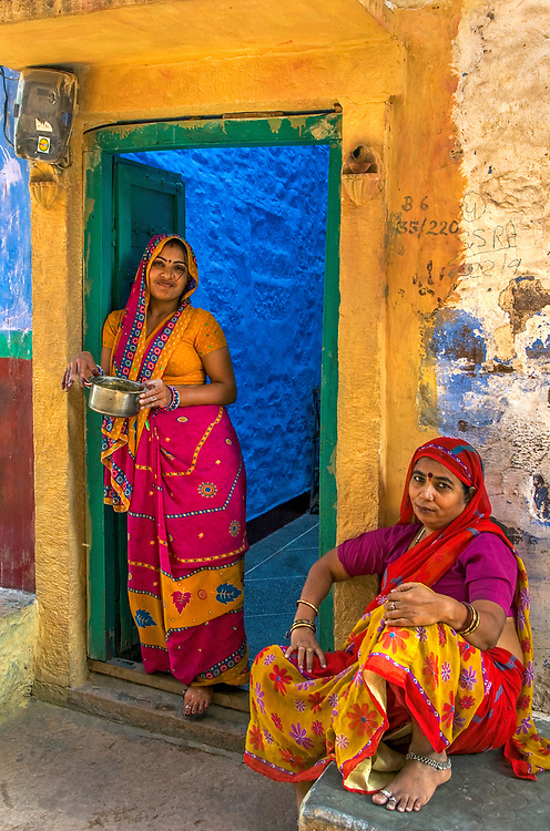 "Jodhpur's old city, the ""Blue City""."