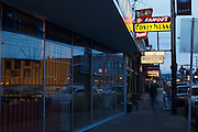 Hawthorne street, a shopping district in SE Portland, Oregon.