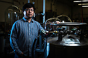 Fangyu Cao poses for a portrait at Advanced Cooling Technologies, Monday, Sept. 10, 2018, in Lancaster. Cao is the principal engineer on a project that is able to take otherwise unusable water and filter it into fresh water at a low-cost. The project was awarded a grant by the Department of Energy.