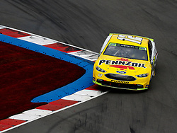 September 30, 2018 - Charlotte, NC, U.S. - CHARLOTTE, NC - SEPTEMBER 30: #12: Ryan Blaney, Team Penske, Ford Fusion Menards/Pennzoil during the running of the Inagural Bank of America ROVAL 400 on Sunday September 30, 2018 at Charlotte Motor Speedway in Concord North Carolina  (Photo by Jeff Robinson/Icon Sportswire) (Credit Image: © Jeff Robinson/Icon SMI via ZUMA Press)