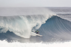 December 8, 2017 - Oahu, Hawaii, U.S. - - Koa Rothman of Hawaii placed fourth in Heat 2 of Round One of the Quarter Finals of the Pipe Invitational at Pipe, Oahu. (Credit Image: © WSL via ZUMA Wire/ZUMAPRESS.com)