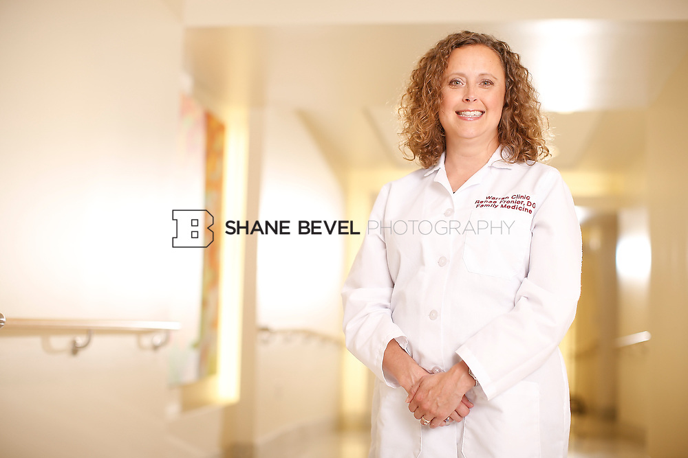5/28/15 4:15:20 PM -- Dr. Renee Frenier of Saint Francis Health System poses for a portrait for the 2015 Advertising Campaign. <br /> <br /> Photo by Shane Bevel