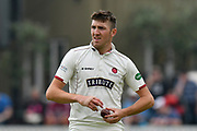 Craig Overton of Somerset during the Specsavers County Champ Div 1 match between Somerset County Cricket Club and Nottinghamshire County Cricket Club at the Cooper Associates County Ground, Taunton, United Kingdom on 10 June 2018. Picture by Graham Hunt.