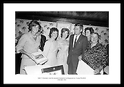 The picture shows President Kennedy and his sister, Mrs. Eunice Shriver, (left) with his relatives in the old Kennedy homestead in Dunganstown Co Wexford.  Mrs. Mary Ryan (right) Mimes Josephine (2nd Left) and Mary Anne (daughter).