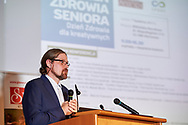 Warsaw, Poland - 2017 April 07: Lukasz Dabrowski (Apteka Cosmedica) speaks during The Day of Health - science conference in the National Library on April 07, 2017 in Warsaw, Poland.<br /> <br /> Mandatory credit:<br /> Photo by © © Adam Nurkiewicz / Mediasport / Mediasport<br /> <br /> Picture also available in RAW (NEF) or TIFF format on special request.<br /> <br /> Any editorial, commercial or promotional use requires written permission from the author of image.<br /> <br /> Adam Nurkiewicz declares that he has no rights to the image of people at the photographs of his authorship.