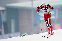 Niklas Dyrhaug of Norway during mens 10km Classic individual start of the Tour de Ski 2014 of the FIS cross country World cup on January 4th, 2014 in Cross Country Centre Lago di Tesero, Val di Fiemme, Italy. (Photo by Urban Urbanc / Sportida)