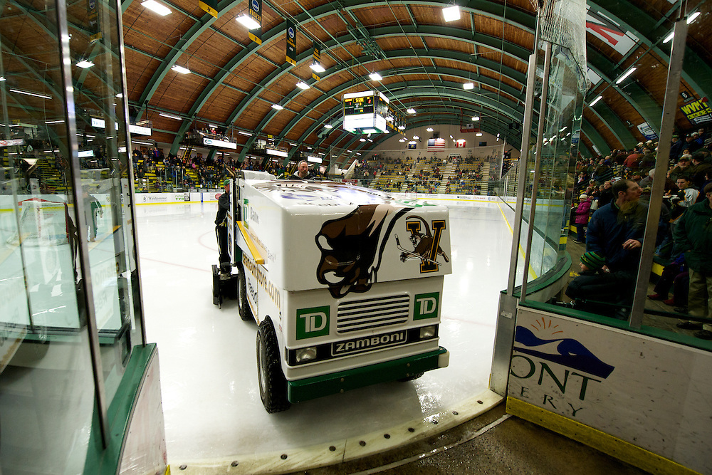 The men's hockey game between the Providence Fiars and the Vermont Catamounts at Gutterson Field House on Sunday afternoon January 15, 2012 in Burlington, Vermont.