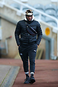 Allan Saint-Maximin (#10) of Newcastle United arrives ahead of the Premier League match between Newcastle United and Chelsea at St. James's Park, Newcastle, England on 18 January 2020.