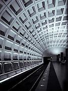 Washington DC subway platform.