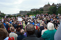 A general view with Edinburgh in the background while Jim Murphy highlight the interest to be together.<br /> MP to resume referendum campaign tour. Jim Murphy to make the case for the United Kingdom during his 100 Streets in 100 Days project<br /> Pako Mera/Universal News And Sport (Europe) 02/09/2014