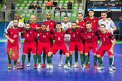 Team Portugal during futsal match between Portugal and Azerbaijan in Quaterfinals of UEFA Futsal EURO 2018, on February 6, 2018 in Arena Stozice, Ljubljana, Slovenia. Photo by Ziga Zupan / Sportida?Team Portugal during futsal match between Portugal and Azerbaijan in Quaterfinals of UEFA Futsal EURO 2018, on February 6, 2018 in Arena Stozice, Ljubljana, Slovenia. Photo by Ziga Zupan / Sportida