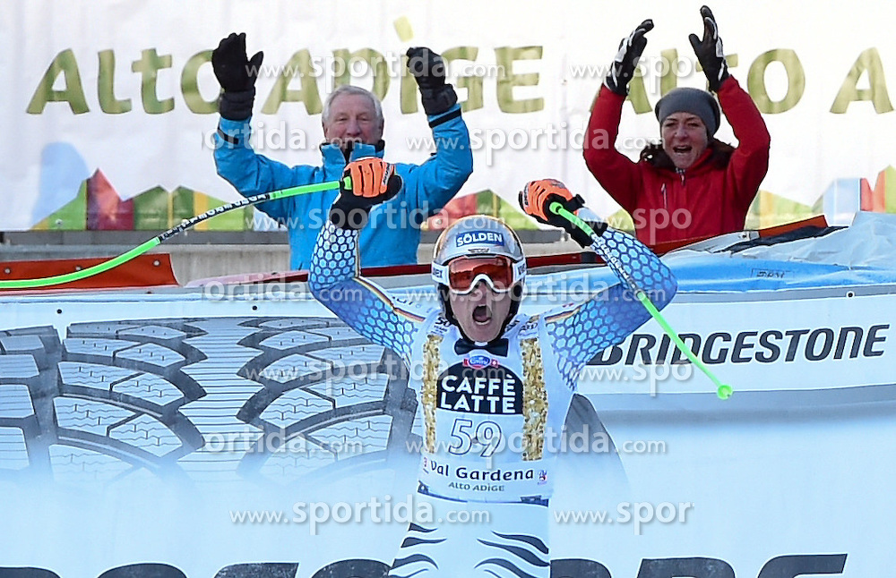 16.12.2016, Saslong, St. Christina, ITA, FIS Weltcup Ski Alpin, Groeden, Abfahrt, Herren, im Bild Thomas Dressen (GER) // Thomas Dressen of Germany reacts after his run of men's downhill of FIS Ski Alpine World Cup at the Saslong in St. Christina, Italy on 2016/12/16. EXPA Pictures © 2016, PhotoCredit: EXPA/ Erich Spiess