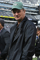 Oct 23, 2011; East Rutherford, NJ, USA; Actor Liam Neeson before the game between the New York Jets and San Diego Chargers at the New Meadowlands Stadium.