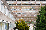 The Aylesbury Estate in South London, UK. Most of the estate, one of Europe's largest, is due to be demolished soon. It houses a disproportionate number of poor people and immigrants.