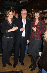Left to right, SARAH McDOUGALL, JONATHAN POWELL (Oo the BBC) and JUDI CHADAWAY at a party to celebrate the publicarion of The Meaning of Tingo by Adam Jacot de Boinod held at the Daunt Bookshop, 83 Marylebone High Street, London on 18th October 2005.<br />