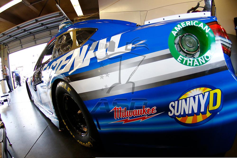 February 10, 2018 - Daytona Beach, Florida, USA: The car of Ricky Stenhouse Jr (17) sits in the garage before practice for the Advance Auto Parts Clash at Daytona International Speedway in Daytona Beach, Florida.