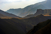 High Atlas Mountains descend into the Sahara Desert near Oarzazate.