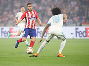 Koke of Atletico Madrid during the Europa League Final match between Olympique de Marseille and Atletico Madrid at Orange Velodrome, Marseille, France on 16 May 2018. Picture by Ahmad Morra.