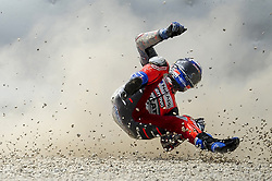 June 17, 2018 - Barcelona, Catalonia, Spain - Ducati Team rider ANDREA DOVIZIOSO of Italy, crashes during the Catalunya Motorcycle Grand Prix, at Circuit de Catalunya. (Credit Image: © Joan Cros/NurPhoto via ZUMA Press)