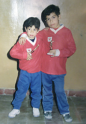 CARLOS TEVEZ in his young years..Here file pictures form the personal album of CARLOS TEVEZ, in time he was a young player..© PikoPress