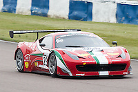 #29 Pasin Lathouras/Richard Lyons - AF Corse, Ferrari 458 Italia GT3 during British GT Championship race at Rockingham, Corby, Northamptonshire, United Kingdom. May 05 2014. World Copyright Peter Taylor/PSP. Copy of publication required for printed pictures.  Every used picture is fee-liable. http://archive.petertaylor-photographic.co.uk