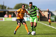 Forest Green Rovers Keanu Marsh-Brown(7) and Barnet's Mauro Vilhete(20) during the EFL Sky Bet League 2 match between Forest Green Rovers and Barnet at the New Lawn, Forest Green, United Kingdom on 5 August 2017. Photo by Shane Healey.